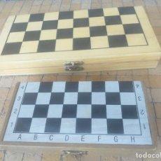 Juegos de mesa: LOTE 2 CAJAS DE AJEDREZ PORTATIL O DE VIAJE DE MADERA Y OTRO DE PLÁSTICO. Lote 274825883