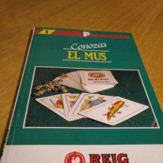 Juegos de mesa: CONOZCA EL MUS. POR JOSÉ LUIS CRESPO MARCOS. Lote 275339993