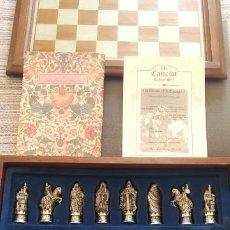 Juegos de mesa: AJEDREZ REY ARTURO CAMELOT SET DANBURY MINT CHESS TIRADA LIMITADA ES NEGOCIABLE. Lote 276164443