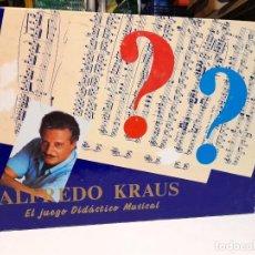 Juegos de mesa: ALFREDO KRAUS ( JUEGO DE MESA, JUEGO DIDACTICO MUSICAL) COMPLETO, SIN USO. Lote 276417623