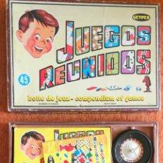 Juegos de mesa: JUEGOS REUNIDOS GEYPER 45 - COMPLETOS CON TODO ORIGINAL Y EN MUY BUEN ESTADO - REPASADO - ALF. Lote 279475438