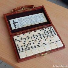 Jogos de mesa: ESTUCHE MALETA MALETIN DOMINO PIEL NUEVO PARA ESTRENAR 19X11 CMS. Lote 280937273