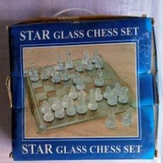 Juegos de mesa: START GLASS CHESS SET. Lote 281804958