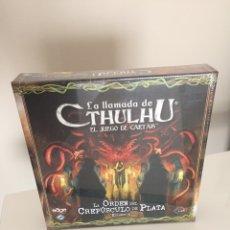 Juegos de mesa: LA LLAMADA DE CTHULHU ORDEN CREPÚSCULO DE PLATA (EXPANSIÓN) LCG FANTASY FLIGHT GAMES ARKHAM HORROR. Lote 283178968