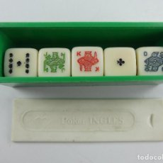 Jogos de mesa: JUEGO DE DADOS DE POKER INGLES CON CAJA. Lote 285270793
