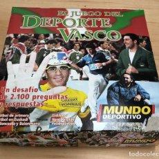 Juegos de mesa: EL JUEGO DEL DEPORTE VASCO. MUNDO DEPORTIVO. DESAFIO DE PREGUNTAS. FUTBOL - BALONCESTO - CICLISMO. Lote 288665133