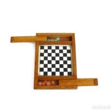 Juegos de mesa: MINIATURA - JUEGO DE DAMAS - EN ESTUCHE - MADERA - PRIMERA MITAD SIGLO 20. Lote 288891018