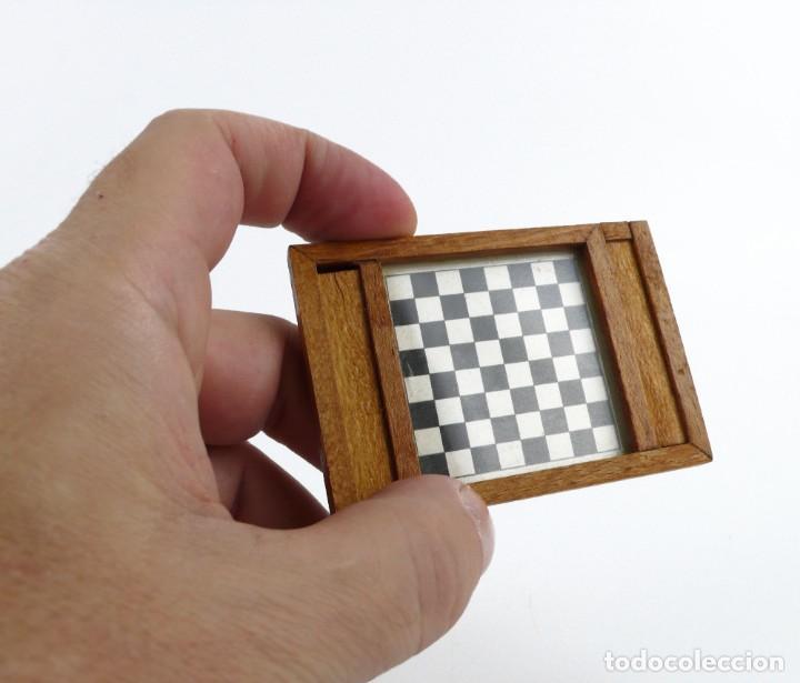 Juegos de mesa: Miniatura - juego de damas - en estuche - madera - Primera mitad Siglo 20 - Foto 2 - 288891018
