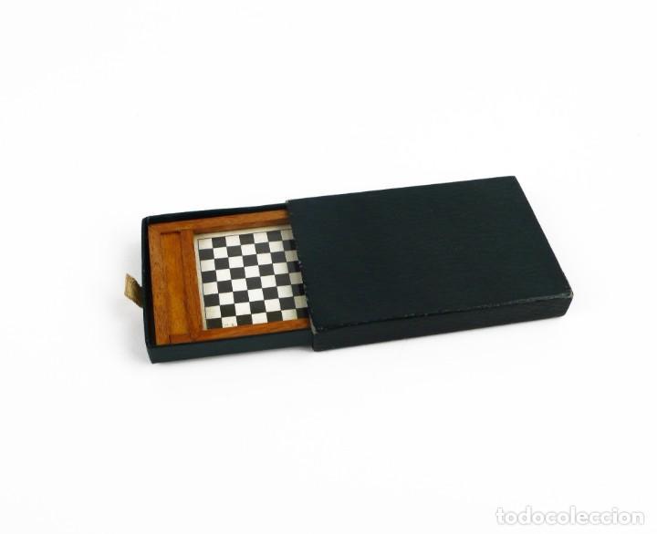 Juegos de mesa: Miniatura - juego de damas - en estuche - madera - Primera mitad Siglo 20 - Foto 5 - 288891018