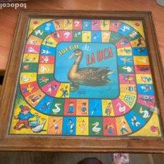 Juegos de mesa: ANTIGUO JUECO DE LA OCA Y PARCHIS CON CRISTAL EN MARCO DE MADERA COVEFO (J-6). Lote 289440358