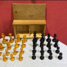 Jogos de mesa: JUEGO DE PIEZAS DE AJEDREZ DE LUJO MADERA TALLADA .EXCELENTE ESTADO. VER FOTOS. Lote 293877698