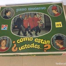 Juegos de mesa: JUEGO EDUCATIVO. COMO ESTAN USTEDES. Lote 295531473