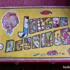 Juegos de mesa: ANTIGUO JUEGO REUNIDOS DE GEYPER EN CAJA DE MADERA Y CIERRES. Lote 295809318