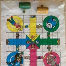 Juegos de mesa: ANTIGUO JUEGO DE PARCHIS. SÓLO DOS CUBILETES Y DOS DADOS. VER FOTOS. Lote 295809998