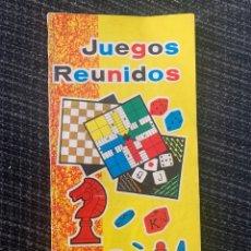 Juegos de mesa: MANUAL DE INSTRUCCIONES REGLAMENTOS PARA LOS ESTUCHES 35, 45,50 Y 55 JUEGOS REUNIDOS GEYPER. Lote 296614298