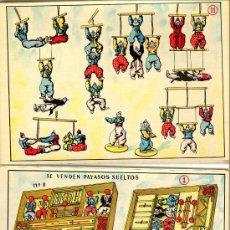 Juguetes antiguos: PIRUETAS - MODELOS -Nº 1,2,3. DE BORRAS - V I B. Lote 195144166