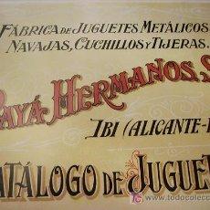 Juguetes antiguos: CATALOGO DE PAYA HERMANOS. Lote 27602488