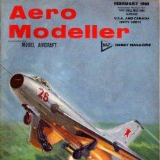 Juguetes antiguos: REVISTA - AERO MODELLER - FEBRERO 1968 - EN INGLÉS. Lote 20932616