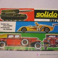 Juguetes antiguos: CATALOGO SOLIDO DE 1977. Lote 19689230