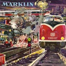 Juguetes antiguos: CATALOGO MARKLIN TRENES AÑO 1962-1963 ALEMAN. Lote 7648868