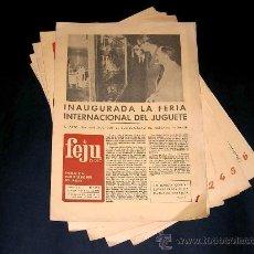 Juguetes antiguos: 5 PERIÓDICOS FERIA INTERNACIONAL DEL JUGUETE VALENCIA 1977, 32 X 22 CMS, 8 PÁGINAS CADA UNO.. Lote 27070120