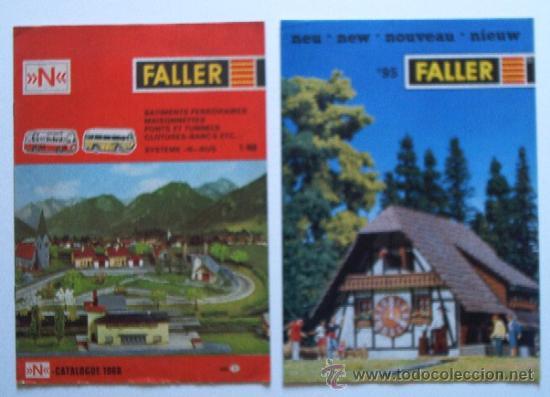 2 CATALOGOS MAQUETAS FALLER (Juguetes - Catálogos y Revistas de Juguetes)