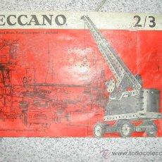 Juguetes antiguos: CATALOGO MECCANO 2/3. Lote 27564877