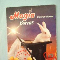 Juguetes antiguos: LIBRO INSTRUCCIONES,MAGIA BORRAS,,160 TRUCOS-TODA LA MAGIA DE SIEMPRE. Lote 39431388