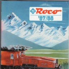 Juguetes antiguos: CATALOGO DE TRENES ROCO 1987 - 88. 195 PAGINAS. VER IMAGENES. 30 X 21CM. Lote 23057782
