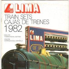 Juguetes antiguos: CATALOGO DE TRENES LIMA 1982. PAGINAS : 23. Lote 21403993
