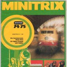 Juguetes antiguos: CATALOGO DE TRENES MINITRIX 1974 - 75. PAGINAS : 35. Lote 17139121