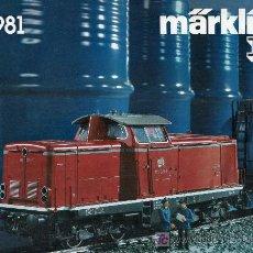 Juguetes antiguos: CATALOGO DE TRENES MARKLIN I 1981. PAGINAS : 24. Lote 23072814