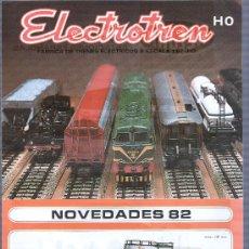 Juguetes antiguos: CATALOGO DE TRENES ELECTROTREN 1982 HELJAN. LAMINA POR LOS DOS LADOS. Lote 17724474