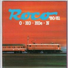 Juguetes antiguos: CATALOGO DE TRENES. ROCO O.HO.HOE.N. 1980 - 1981. PAGINAS : 83. Lote 20293726