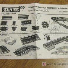 Juguetes antiguos: FOLLETO DE INSTRUCCIONES DE SCALEXTRIC. Lote 24717184