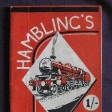 Juguetes antiguos: CATALOGO TRENES HAMBLING'S-1958-60 PAGS.. Lote 24384892