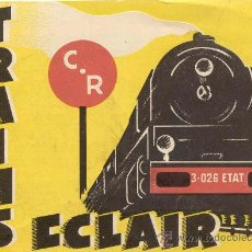 Juguetes antiguos: CATÀLOGO ECLAIR C.R.TRAINS AUTOMOBILES PEUGEOT '30. Lote 27012860