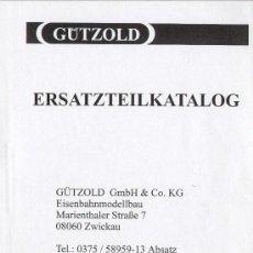 Juguetes antiguos: CATÀLOGO GÜTZOLD 1995 ERSATZTEILKATALOG. Lote 27321657