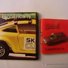 Brinquedos antigos: 2 CATÁLOGO GUISVAL - ESCORPIÓN 79 Y CAMPEÓN 76. Lote 25135281