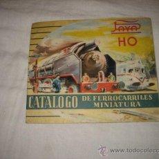 Juguetes antiguos: CATALOGO DE FERROCARRILES MINIATURA DE LA CASA PAYA . Lote 27366344