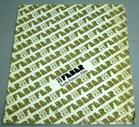 Catalogo Feber 1986 Tarifas Lista Precios 1986 Comprar Catalogos Y