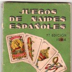 Juguetes antiguos: JUEGOS DE NAIPES ESPAÑOLES. 7ª EDICION. AÑO 1944. VITORIA. HIJOS DE HERACLIO FOURNIER.. Lote 19315874