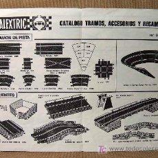 Juguetes antiguos: ORIGINAL SCALEXTRIC, CATALOGO, TRAMOS, ACCESORIOS Y RECAMBIOS, FERRARI B3 F1, EDICION 10ª. Lote 19692208