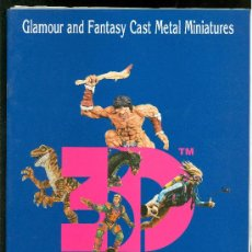 Juguetes antiguos: MINIATURES 3D. GLAMOUR AND FANTASY CAST METAL MINIATURES. . Lote 20119655