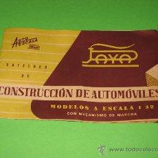 Juguetes antiguos: CATALOGO DE CONSTRUCCION DE AUTOMOVILES-PAYA -ORIGINAL (NO FOTOCOPIA). Lote 26957960