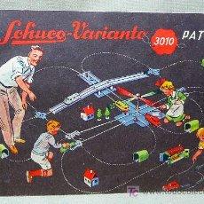 Juguetes antiguos: CATALOGO, SCHUCO, VARIANTO, 3010, PATENT. Lote 20678885