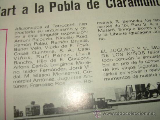 Juguetes antiguos: MUY RARA E INTERESANTE REVISTA...EL JUGUETE AÑO 68....1ª EXPOSICION DE JUG.ANTIGUO EN ESPAÑA - Foto 11 - 26976252
