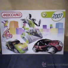 Juguetes antiguos: CATALOGO MECCANO 2007. Lote 36566661