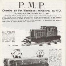 Juguetes antiguos: CATÁLOGO P.M.P. 1955 - DEPLIANT. Lote 26602995