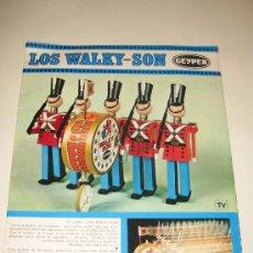 Juguetes antiguos: ANTIGUO FOLLETO DE CUATRO PAGINAS GEYPER - LOS WALKY-SON. Lote 71575565